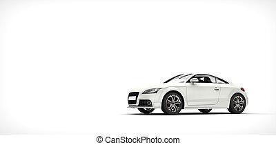 Cool White Car 2