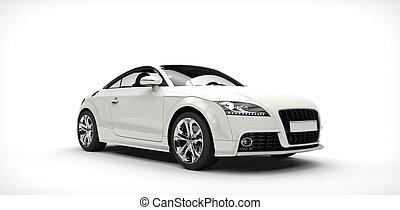 Cool White Car