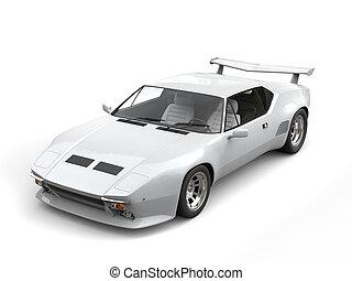 Cool white eighties sports car - studio shot