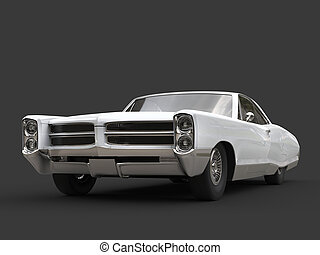 Cool white restored vintage car