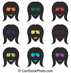 Cool Women's Face Silhouettes