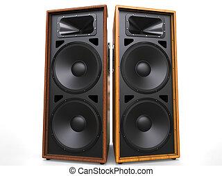 Cool wooden hifi speakers