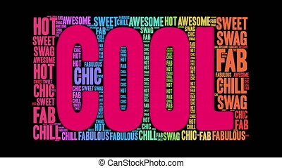 Cool Word Cloud - Cool word cloud on a white background.