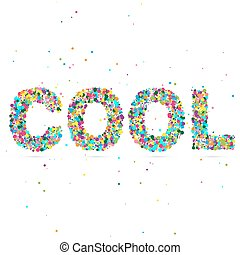 cool word consisting of colored particles