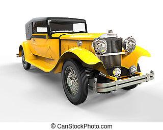 Cool yellow vintage car