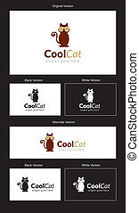 CoolCat Logo Design