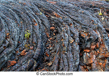 Cooled Lava Flow Background - Cooled lava flow at Craters of...