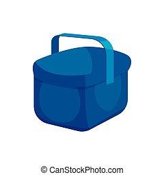 Cooler bag icon, cartoon style - Cooler bag icon in cartoon...