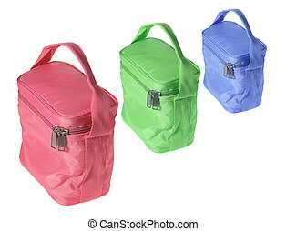 Cooler Bags on White Background