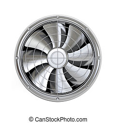 Cooler fan - Very high resolution 3d rendering of a cooler...