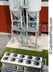 Cooler fan spin on industrial biogas bio gas plant