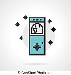Cooler flat line vector icon