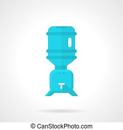 Cooler for potable water flat vector icon - Flat color...