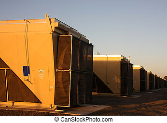 Coolers of natural gas compresson