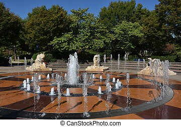 coolidge, 공원, 에서, chattanooga, 테네시