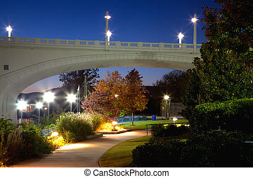 Chattanooga - Coolidge Park at night, Chattanooga, Tennessee