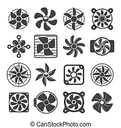Cooling fan icons