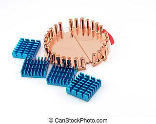 Cooling radiators for processors