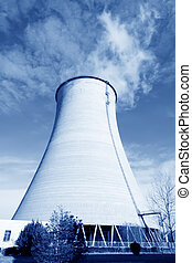 cooling tower at an industrial enterprise
