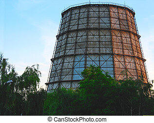 cooling tower at electric power plant