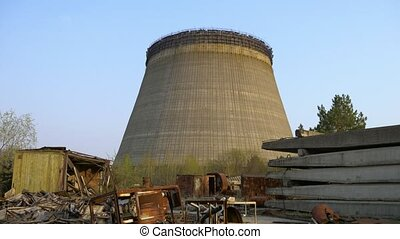Cooling tower of Chernobyl Nuclear Power Station