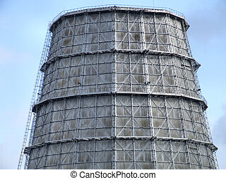 Cooling tower of a big plant - Cooling tower of a big...