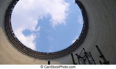 Cooling tower of Chernobyl Nuclear Power Station - Cooling...