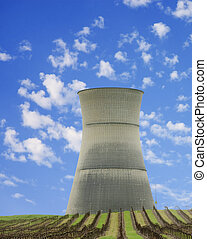 cooling tower of nuclear station - cooling tower of Rancho...