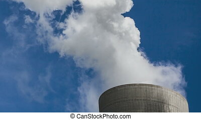 Cooling Tower with steam