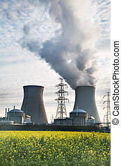 nuclear power plant - cooling towers of a nuclear power ...