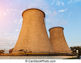 Cooling towers of the power plant
