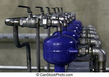 Cooling water preparation in industrial process