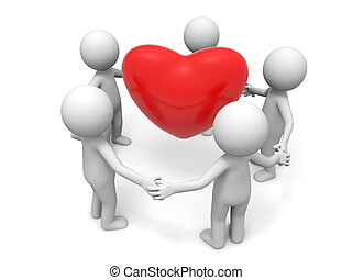 coopération, amour, associé