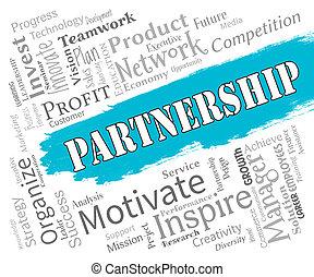 coopération, fonctionnement, association, ensemble, indique, mots