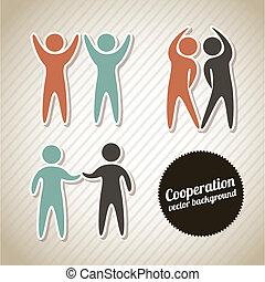 coopération, icônes