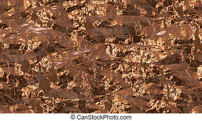 Cooper Crumpled Foil Seamless Background Texture