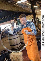 cooper preparing the hoops