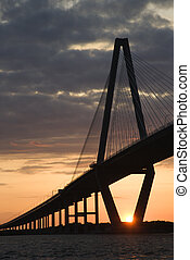 Cooper River Bridge in Charleston.