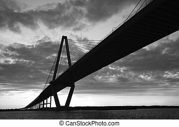 Cooper River Bridge in Charleston, South Carolina. - Cooper...