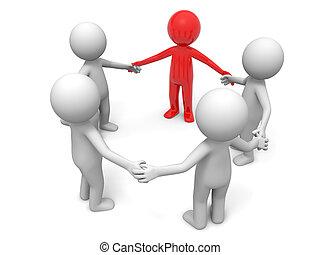 cooperação, equipe, sócio