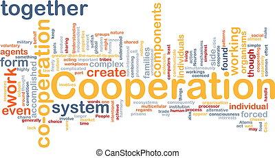 cooperação, fundo, conceito