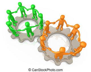 cooperare, squadre