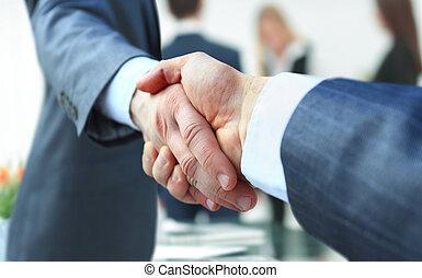 cooperat, 握手, 概念, cooperation.businessman, 誘う
