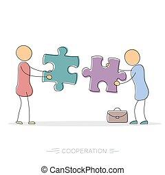 Cooperation between two businessmen