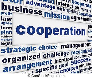 Cooperation conceptual poster design