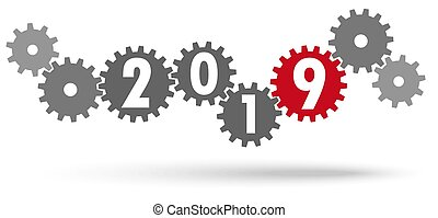 cooperation gears for New Year 2019 - cooperation gears in...