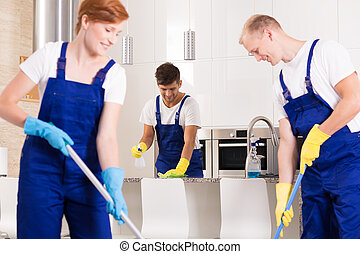 Cooperation in cleaning
