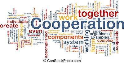 Cooperation management background concept