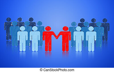 Cooperation - The negotiation of business. Collaborative...
