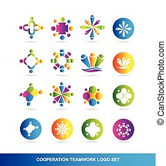 Cooperation teamwork logo